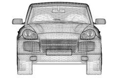 Bilen 3D modellerar Royaltyfri Fotografi