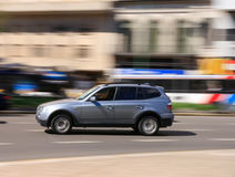 bilen fast Fotografering för Bildbyråer