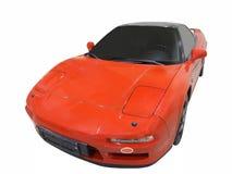 bilen fast red royaltyfria foton