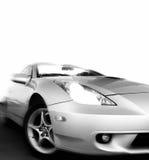 bilen fast sporten Arkivfoto