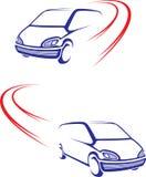 bilen fast vägen royaltyfri illustrationer