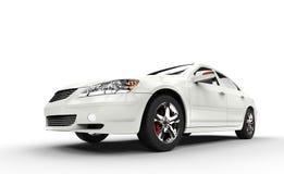 bilen fast white Royaltyfria Bilder