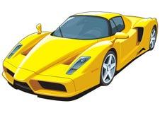 bilen fast yellow Royaltyfri Foto