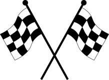 bilen flags tävlings- Arkivfoton
