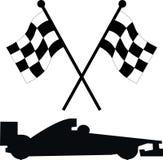 bilen flags tävlings- Arkivfoto