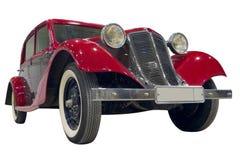 bilen isolerade retro Fotografering för Bildbyråer