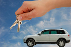 bilen keys nytt Fotografering för Bildbyråer