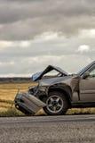 Bilen kraschade efter olycka Arkivfoton