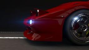 Bilen på natten Royaltyfri Bild