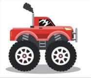 Bilen på stora hjul stock illustrationer