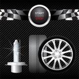 bilen parts vektorn Arkivfoto