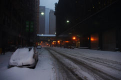 bilen räknade snow Royaltyfri Foto