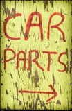 Bilen särar tecknet Arkivbilder