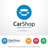 Bilen shoppar Logo Template Design Vector Royaltyfri Foto