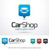 Bilen shoppar Logo Template Design Vector Arkivbild