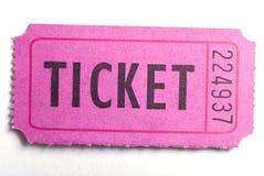 bilet Zdjęcie Stock