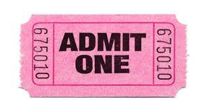 bilet do filmu Zdjęcie Stock