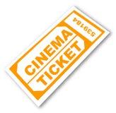 bilet w kinie Zdjęcia Stock