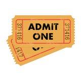 bileta rocznik Obraz Stock
