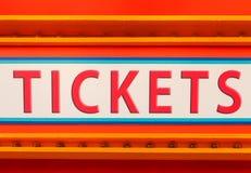 Bileta znak Obrazy Stock