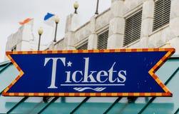 Bileta znak Zdjęcie Royalty Free