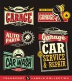 Biletiketter, tecken, emblem, logoer och klistermärkesamling royaltyfri illustrationer