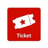 Biletowa ikona dla sieci i wiszącej ozdoby Obrazy Royalty Free