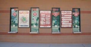 Biletowa kasa teatralna przy busch stadium, śródmieścia St Louis obrazy stock