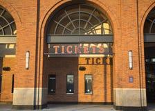 Biletowy budka przy Citi polem, dom pierwsza liga baseballa drużyna new york mets Obrazy Stock