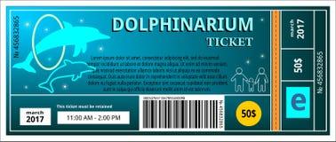 Biletowy dolphinarium royalty ilustracja