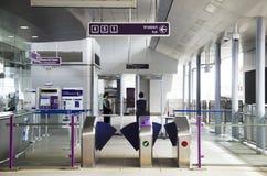 Biletowy kontuar i brama Mszalna Błyskawicznego transportu władza Thail Fotografia Royalty Free