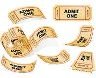 bilety royalty ilustracja