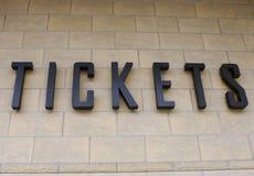 bilety. zdjęcie royalty free