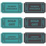 Bilety dostępni out i sprzedający Zdjęcie Stock