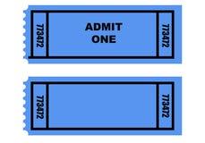 bilety dwa Zdjęcia Royalty Free