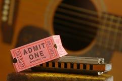 bilety na koncert Obrazy Stock