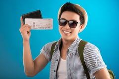 Bilety podróż Fotografia Royalty Free