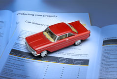 bilförsäkring royaltyfria bilder