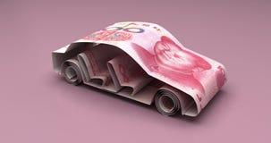 Bilfinanskines Yuan stock illustrationer
