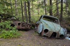 Bilförrådsplats i Kirkoe Mosse Royaltyfri Fotografi