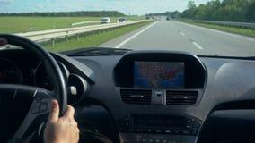 bilgps inom för enhet vindruta där En GPS enhet är på lager videofilmer
