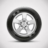 Bilgummihjul, vektor Fotografering för Bildbyråer