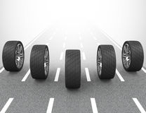 Bilgummihjulen Arkivfoto