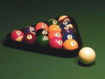 Bilhar, esfera, tabela de bilhar, uma vara, Fotografia de Stock