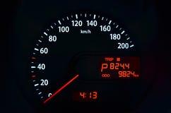 Bilhastighetshastighetsmätare Royaltyfria Bilder