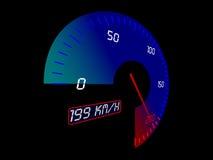 Bilhastighetsmätare stock illustrationer