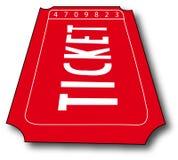 Bilhete da admissão ilustração stock