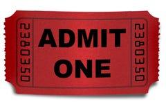 Bilhete da admissão fotos de stock