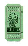 Bilhete da cerveja Fotografia de Stock