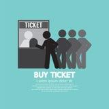 Bilhete da compra dos povos na cabine do serviço Fotografia de Stock Royalty Free